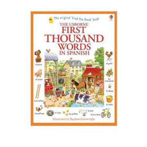 Usborne-My-First-Thousand-Words-in-Spanish-Book-NEW-Paparback