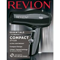 Revlon 1875W Turbo Hair Dryer Small Compact Lightweight Black 2 Speed Travel NEW