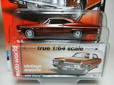 2016 AUTO WORLD 1:64 *PREMIUM 5D* BURGANDY 1966 Chevrolet Impala SS *NIP!*