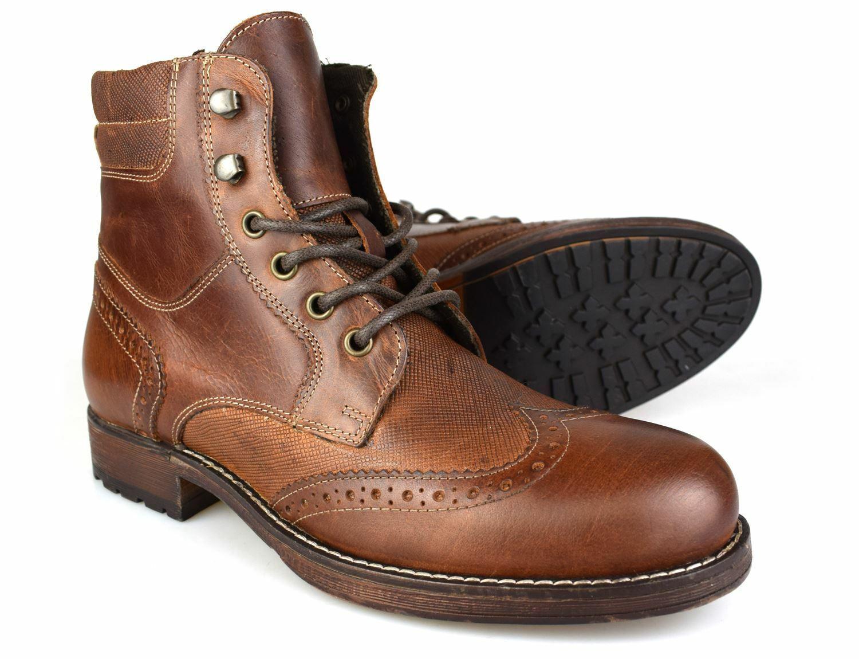 Trafford Marron Cuir Rouge Chaussures Tape Bois Habillé Richelieu Yf6b7gyv