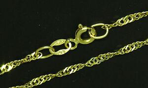 Damen-Halskette-Singapur-Kette-gedreht-585-Gold-14-K-45-amp-50-amp-55-cm-lang-Massiv