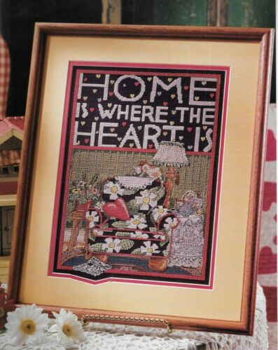 Pattern Home is Where the Heart Is Sampler Cross Stitch NEW