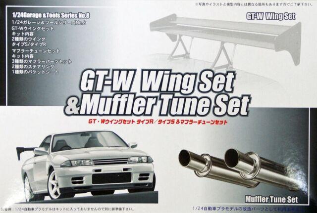Fujimi GT08 111124 Garage /& Tool Series GT-W Wing /& Muffler Set 1//24 Scale Kit