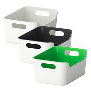 Image Is Loading IKEA VARIERA Kitchen Storage Box With Handles 24x17cm