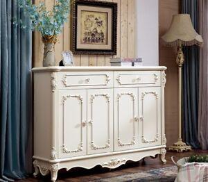 Détails sur Antique Baroque Style Commode Commode Salon Chambre à Coucher  Étagère Buffet 902