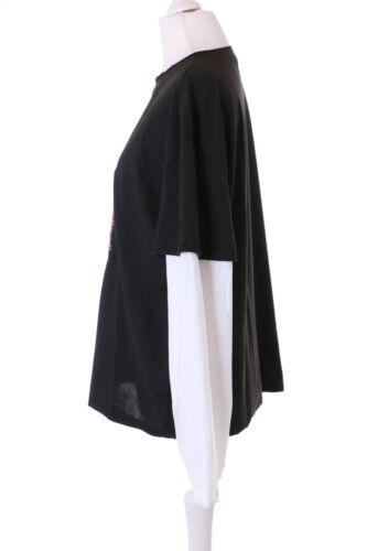 TP-211-2 Schwarz Weiß Twin Optik gruselig Horror Hase Grafik Langarm Shirt