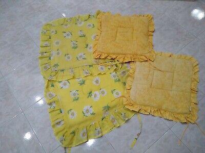 4 cuscini gialli fiori per sedie cucina con imbottitura | eBay