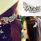 Shiny Girl's Rhinestone Flower Crystal Hair Clip Comb Ponytail Holder Hairpin