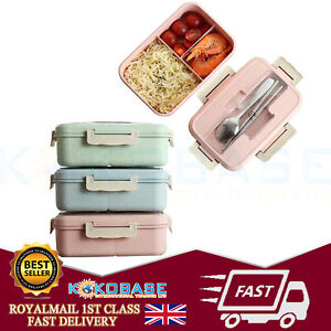 Wheat-Straw-Lunch-Box-Food-Container-Set-Bento-Lunch-Boxes-With-3-Compartment