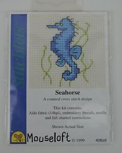 MOUSELOFT STITCHLETS CROSS STITCH KIT ~ FISH ~ BY THE SEASIDE ~ NEW