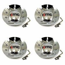 4 KMC Wheels Gloss Black Wheel Center Hub Caps 5//6Lug KM714 Regulator