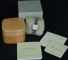 david yurman diamond mop dial stainless steel womenu0027s watch w box
