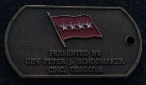 Details about AUTHENTIC 4 Star General Schoomaker SOCOM JSOC SEAL AFSOC  USASOC Challenge Coin