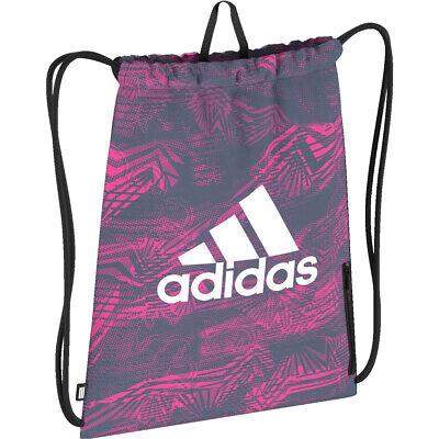 Gym Bag Adidas Sport Performance Drawstring Pink Navy Dz8246 Ebay