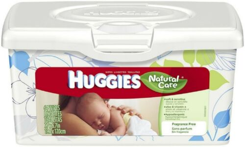 HUGGIES Natural Care Baby Wipes Unscented 64 ea Pack of 8