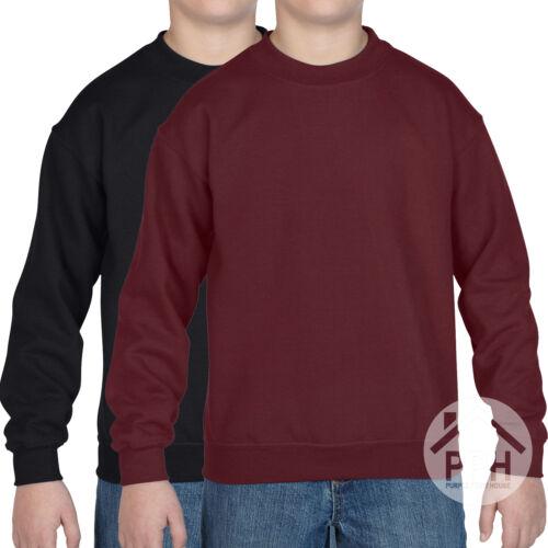 2 confezione GILDAN Heavy Blend Bambini Felpa School Uniform Sweater Jumper