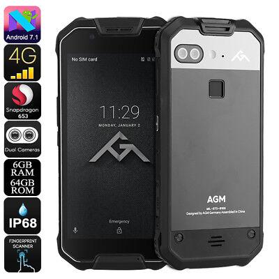 AGM X2 Rugged Phone - Android 7.1, Octa-Core CPU, 6GB RAM, IP68, 1080p Display,