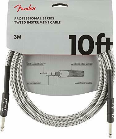 White Tweed Fender Professional Series Cable