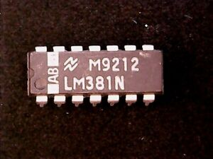 LM381N-National-Semiconductor-Dual-Low-Noise-Preamplifier-DIP-14