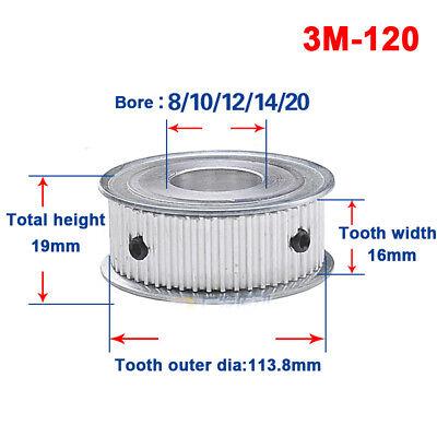 3M30T Timing Belt Pulley Gear Wheel 8mm Bore For 10mm Width Belt x1Pcs