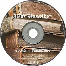 1600 KLASSIKER ebooksammlung Literatur ebooks CD SAMMLUNG ebook KINDLE portofrei