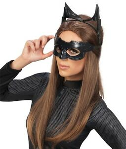 Image is loading Catwoman-Mask-&-Ears-Sexy-Adult-Costume-Kit-  sc 1 st  eBay & Catwoman Mask u0026 Ears Sexy Adult Costume Kit Cat Woman Batman - Fast ...