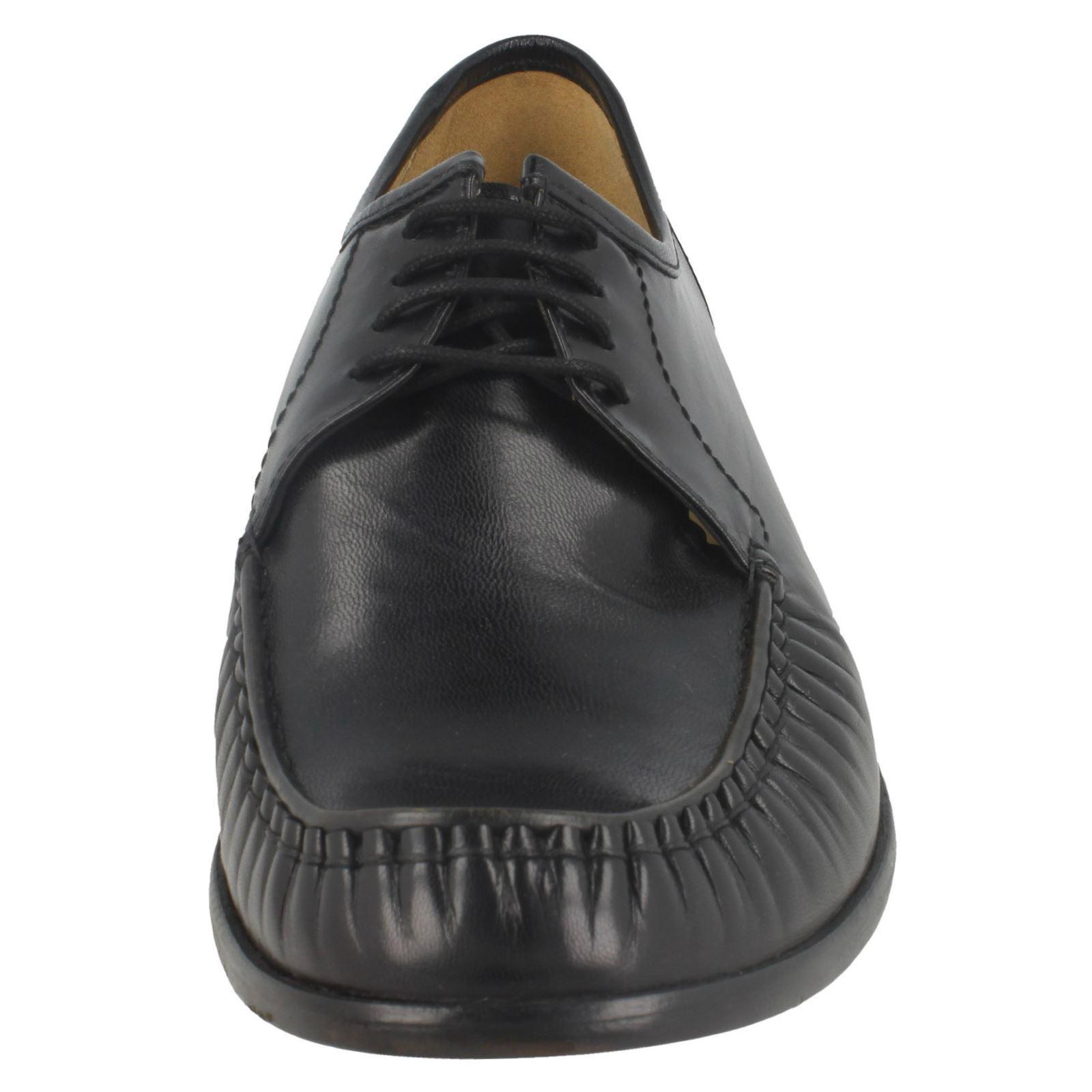 Thomas Blunt Crewe da uomo, in pelle stile mocassino con lacci Scarpe classiche da uomo