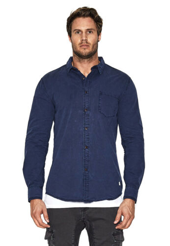 Nena /& Pasadena Shirt Men Airwolf Navy