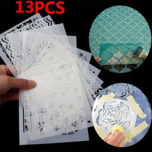 13pcs DIY Layering Stencils Scrapbooking Walls Painting Embossing Template Craft
