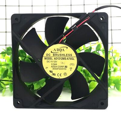 ADDA AD1212MS-A73GL fan 3pin 120*120*25 12V 0.34A