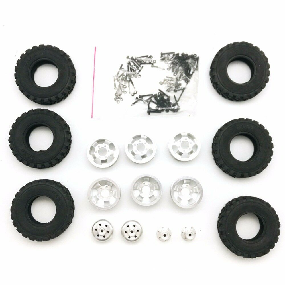 4WD   6WD Four-Six Drive Army Special Double Double Double Tire Metal Wheel DIY RC Car Tyre 302006
