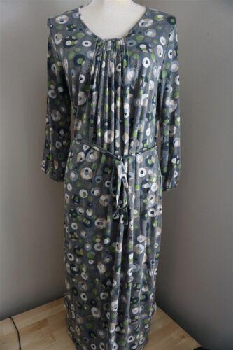 Boden Womens Jersey Midi Dress Gray Green Tan Size