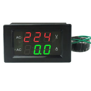 AC 500V 100A LED Digital Volt Watt Voltage Ampere Panel Meter Voltmeter Ammeter