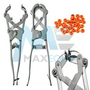Details about PROFESSIONAL ELASTRATOR Rubber Ring CASTRATOR Applicator Farm  Castrating + RINGS