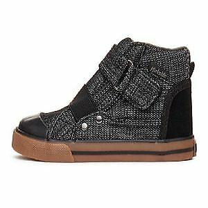 Barca Black Denim High Top Sneaker