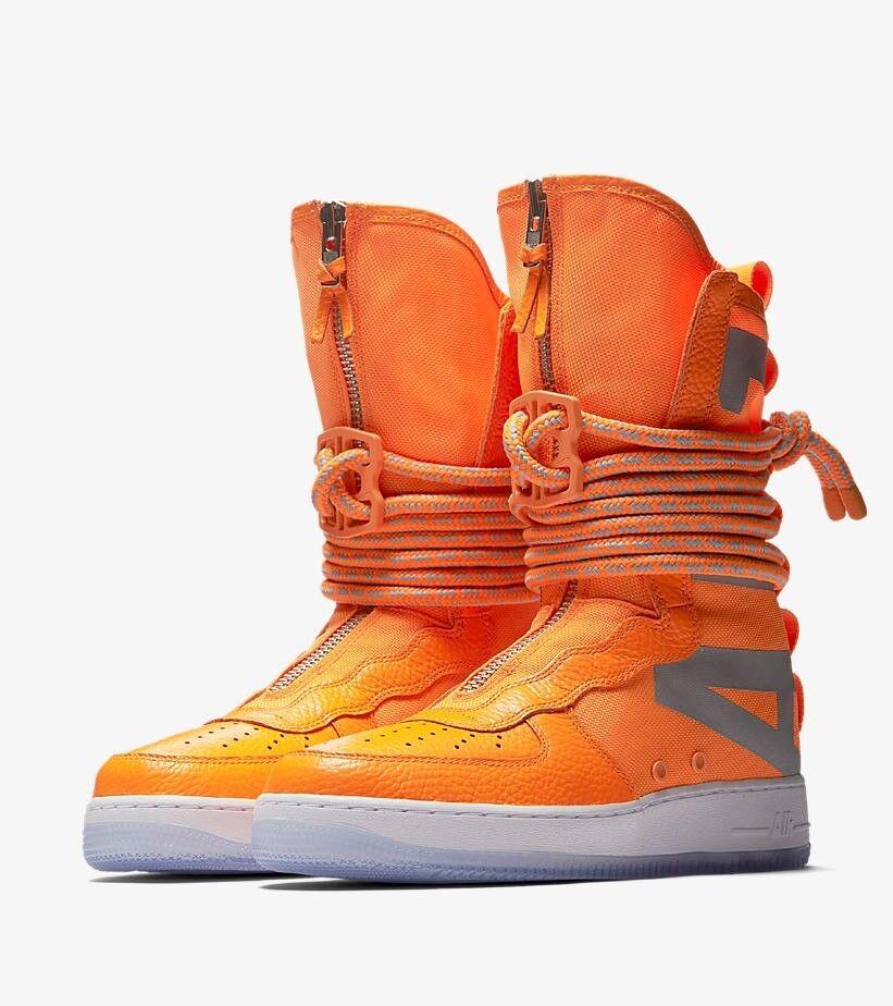 Nuove nike sf af-1 ciao scarpe taglia 14 edizione limitata arancione