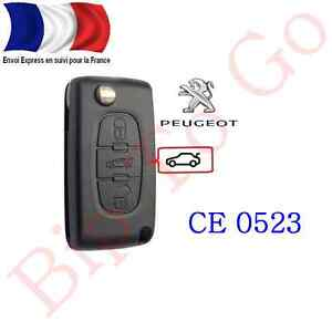 coque cl plip 3 boutons coffre peugeot 107 207 208 307. Black Bedroom Furniture Sets. Home Design Ideas