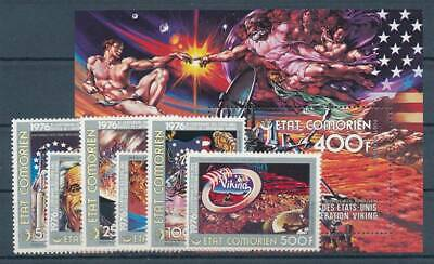 Briefmarken Symbol Der Marke 558393 Komoren Nr.305-10+bl.51a** Raumfahrt