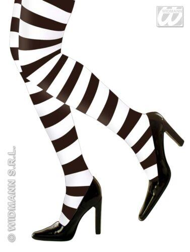 Ringelstrumpfhose Strumpfhose,gestreift XL,70den schwarz-weiß S-M