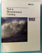 Hewlett Packard 1992 Test And Measurement Catalog Hardcover