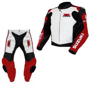 GSXR-SUZUKI-Courses-Combinaison-de-Moto-en-Cuir-Moto-en-Cuir-Veste-Pantalon