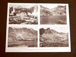 Rare-vedute-dei-Cinque-Laghi-nell-039-Alta-Tatra-in-Austria-nel-1899-Fery-Markasit