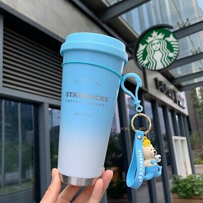 New Starbucks China 2019 Black And Green Apron 12oz Stainless Steel Bottle