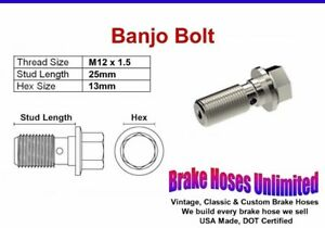 Banjo Bolt M12 X 1 5 25mm Ebay