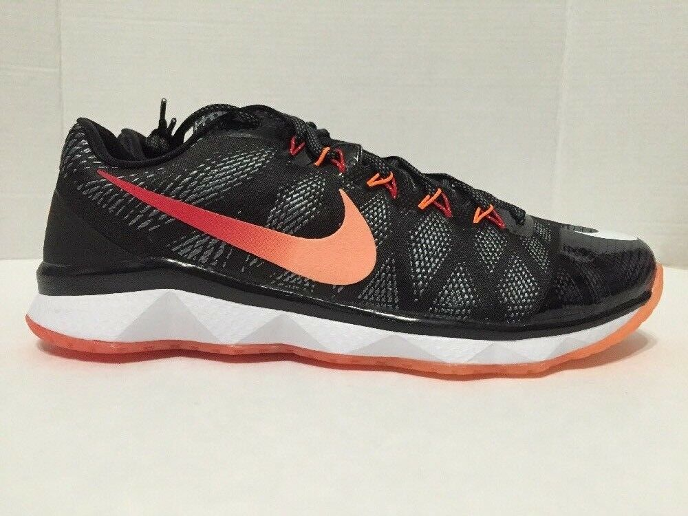 Nike 725231-081 Flyweave Black Calvin Johnson CJ3 Trainer Georgia Peach Sz 11.5