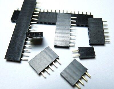 20x 2.54mm Pitch 2P-40P Female Single Row Straight Header Strip Socket Connector