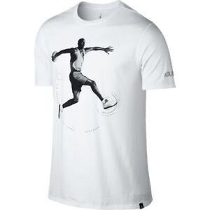 32f90902f6a147 Nike Air Jordan 5 V Retro T-Shirt White Black Sz 2XL 864923-100 ...