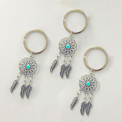 1xKey Chain Key Ring Feather Tassels Dreamcatcher Charm Pendant Keyring Keychain