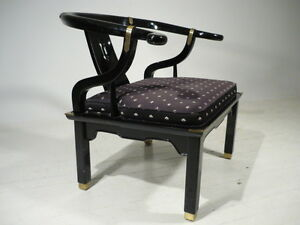 Peachy Details About Classic Vintage Hollywood Regency Modern Asian Style Lounge Chair Baker Era Spiritservingveterans Wood Chair Design Ideas Spiritservingveteransorg
