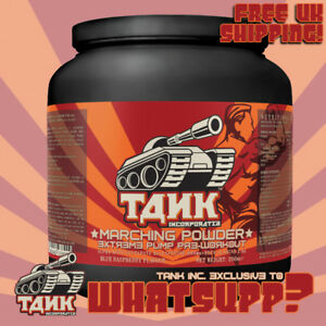 TANK-Inc-Marching-Powder-EXTREME-PUMP-PRE-WORKOUT-250g-Blue-Rasp-MUSCLE-ENERGY